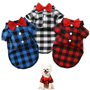 Small Pet Cat Dog Clothing Wedding Suit Tuxedo Bow Puppy Clothes Costume Apperal