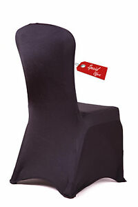 PREMIUM NYLON SPANDEX CHAIR COVERS WITH ELASTICATED POCKETS 27 COLOURS WEDDING