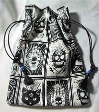 Mystic Theme Wicca Pagan Tarot Card Drawstring Mojo Bag Pouch ~ FREE SHIP