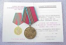 RUSSIAN SOVIET MILITARY MEDALS 40th VICTORY PATRIOTIC WAR WWII ARMED NAVAL ORDER