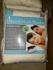 Biddeford heated micro plush blanket Natural Color. King Size. New with Tags