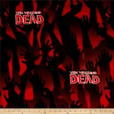 Walking Dead Cartoon Comic Book Black Red Quilting Cotton Fabric 10 x 22 PIECE