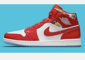 Nike Air Jordan 1 Mid SE Mountainside Chile Red/White DC7248-600 (GS) Size 6y
