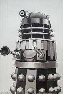 DR DOCTOR WHO ORIGINAL ART - 'SUPREME DALEK' Remembrance of the Daleks artwork