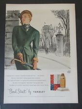 Original Print Ad 1948 BOND Street Yardley Perfume Fashion