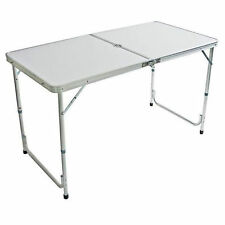 4FT FOLDING CAMPING TABLE ALUMINIUM PICNIC PORTALBE ADJUSTABLE PARTY BBQ OUTDOOR