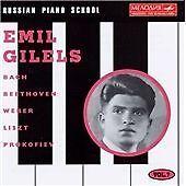 EMIL GILELS Russian Piano School Volume 7 CD (1995) Beethoven Weber Prokofiev