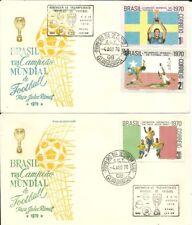 New listing BRAZIL 1970 Soccer FOOTBALL WORLD CHAMPIONSHIP Pele on Set on 2 KF FDCs