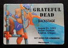 Grateful Dead Backstage Pass Oregon Ducks Autzen Eugene 8/21/1993 Road Crew Lady