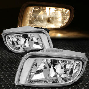 FOR 01-03 ELANTRA GT CLEAR LENS BUMPER DRIVING FOG LIGHT LAMPS W/WIRE+SWITCH