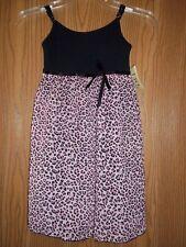 Jojo Designs Girls Size 4T Pink Black Animal Print Dress New With Tags