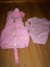 Size 18-36 Months Playful Plush Pink Poodle Halloween Costume Vest & One-Piece