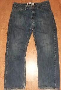 Levis 505 Straight Jeans 32 X 27 Youth 12 Husky Medium Blue