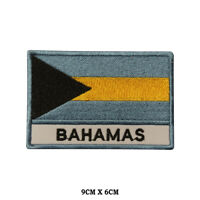 BAHAMAS National Flag Embroidered Patch Iron on Sew On Badge For Clothes etc