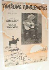 Tumbling Timbleweed Sheet 1934 Gene Autry