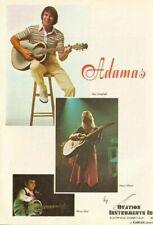 1978 Glen Campbell Nancy Wilson & Marcel Dadi Ovation Adamas Guitar - Vintage Ad