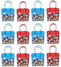 12PCS Disney Mickey, Minnie, Donald Goofy Goodie bags Party Favor Bags Gift