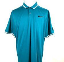 Disney Nike Golf Aulani Resort Men Polo Shirt Sz 2XL Teal Dri Fit Short Sleeve