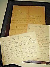 MICHEL CLEMENCEAU  Manuscrit + Autographe Signé 1945 DEPUTE SEINE GUERRE ZAY