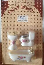 3pc Doll House Porc Bath Set-1/24 Scale - Cheap & Rare!