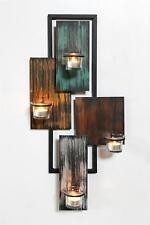 Wandteelichthalter Abstrakt Metall Wand Schwarz 61cm Teelichthalter Kerzenhalter