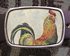 Rooster Vintage Inspired Art Gift Cock Belt Buckle