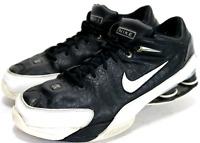 NIKE Shox Flight $120 Men's Training Shoes Size 15 Leather Black White