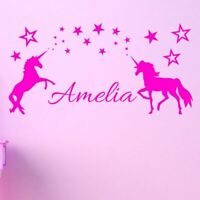 Custom Name Unicorn Wall Decal Sticker Removable Vinyl Decor Wall Stickers Girls