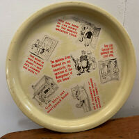 Vintage 1960s NOVELTY DRINKS TRAY humourous barware kitchenware mancave