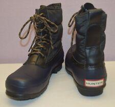 HUNTER Women's Original Short Quilted Lace-Up Boot Navy Black Women US 8 EU 39