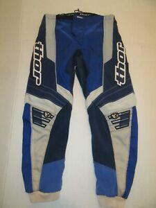 Thor MX Phase Motocross ATV Dirt Bike Riding Pants Sz 30 Blue/Gray/White