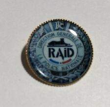 RAID French  POLICE AGENCY`  Gold Plated 25mm Badge
