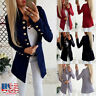 Women Casual Slim Blazer Suit Coat Jacket Ladies Long Sleeve Cardigan Outwear US