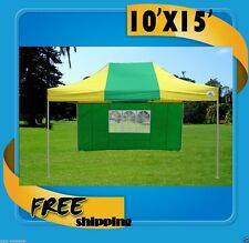 10'x15' Pop Up Canopy Party Tent EZ - Green Yellow - F Model Upgraded Frame
