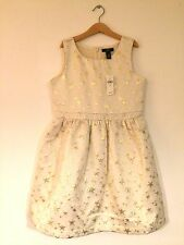 Girls Cream Dress Size 12 Years BNWT RRP £27.99 Special Occasion Party wedding