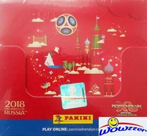 2018 Panini Adrenalyn XL FIFA World Cup Russia 50 Pack Factory Sealed Box-300 Cd