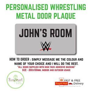 PersonalisedWWE inspired WrestlingKids Bedroom Room Door Sign Perfect gift