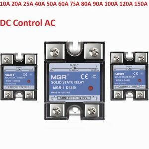 MGR-1 10A -150A Input 3-32VDC Single Phase Solid State Relays 220VSSR DC to AC
