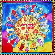 """100% Silk Scarf Sunshine Apollo 19"""" X 19"""" Thin Square Bandana Neckerchief"""