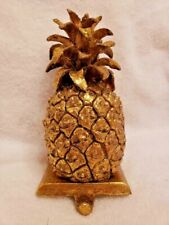 Gilded Pineapple Hanger for shelf or mantle.  Sturdy