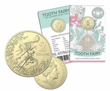 FREE POST - AUSTRALIA 2020 $2 TOOTH FAIRY ON CARD UNCIRCULATED  COIN -LIMITED ED