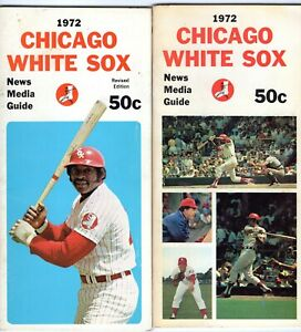 1972 Chicago White Sox Media Guide Pair : DICK ALLEN, WILBUR WOOD +