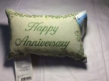 Tapestry Throw Pillow Word Afghan Happy Anniversary Word Pillow