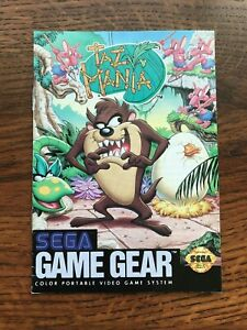 Taz Mania Sega Game Gear Instruction Manual Only