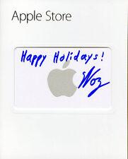 Steve Woz Wozniak SIGNED $20 Apple Store Gift Card + Happy Holidays! AUTOGRAPHED
