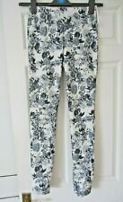 Ladies grey floral trousers - size S - Redial