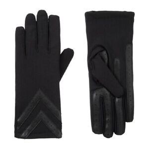 Isotoner Spandex 3-Button Length Chevron Gloves Style A30276