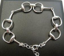 Horse Bit Snaffle Bracelet, Solid Sterling Silver- gift box, 10 grams