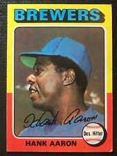 New listing 1975 TOPPS HANK AARON (BREWERS) #660 VG