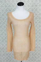 Anthropologie Charlie & Robin Tunic Top Open Knit Super Kid Mohair Wool Blend M